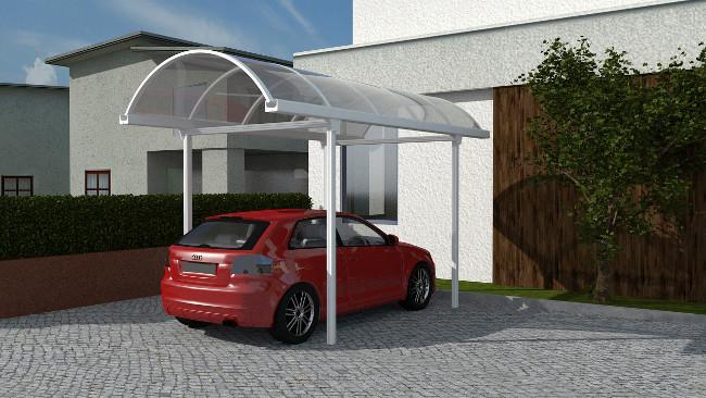 Pensilina tunnel per auto for Coperture in legno per auto usate