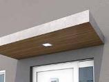 Pensilina design rivestimento legno