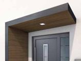 Pensilina design con rivestimento in legno