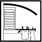 Pensilina Egò installata su finestra