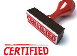 Pensiline certificate con timbro