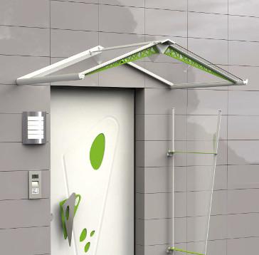 Installazione pensilina newentry con Kit Vela paravento